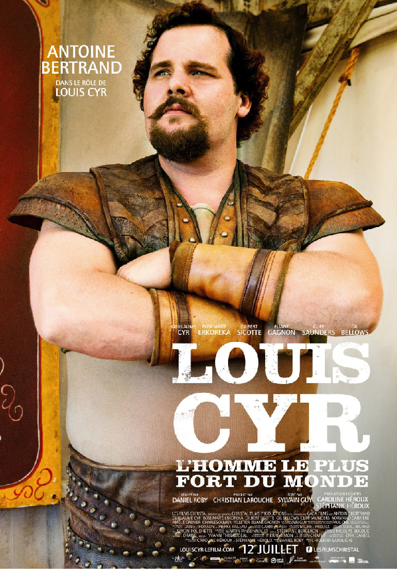 Poser pour Louis Cyr: L'homme le plus fort du monde
