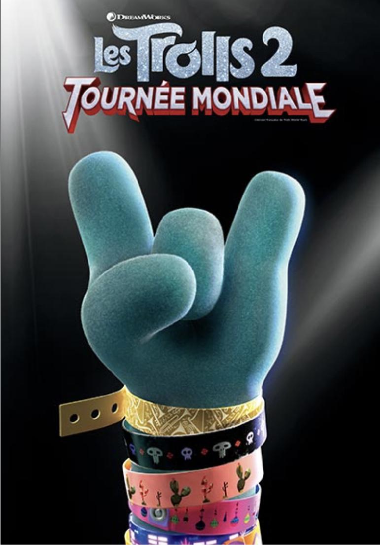 Poser pour Les Trolls 2 : tournée mondiale